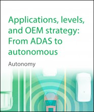 Applications, levels, and OEM strategy: From ADAS to autonomous