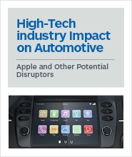High-Tech Industry Impact on Automotive: Apple and Other Potential Disruptors